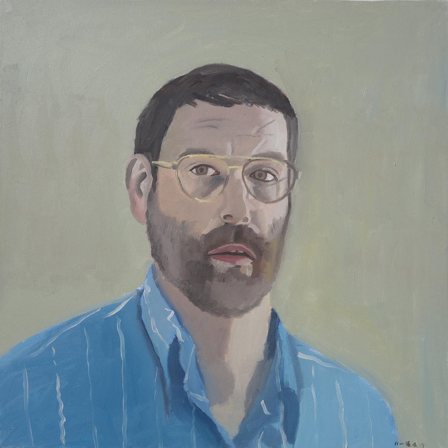 self portrait series 19th july 1991 bryan charnley